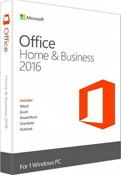 microsoft office 2016 home and business (x32/x64) ru box (коробочная версия)